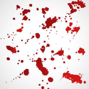 Image of blood splatter
